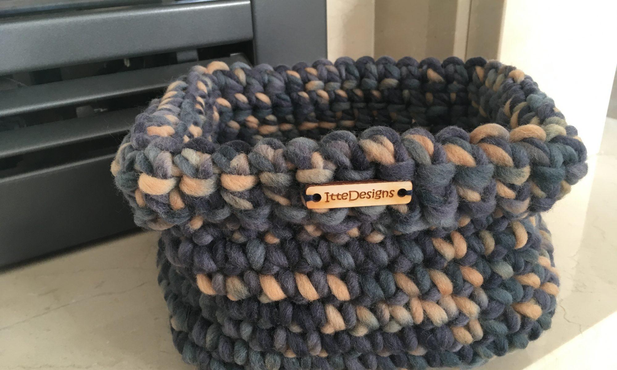 mandje 100% gemêleerde wol