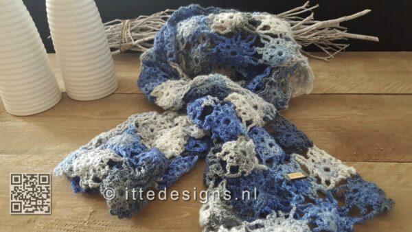 gehaakte sjaal blue ittedesigns.nl