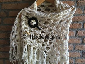 Omslagdoek White Rose | ItteDesigns.nl 3