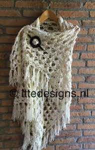 Omslagdoek White Rose | ItteDesigns.nl