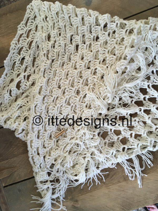 Omslagdoek White Rose 2| ItteDesigns.nl