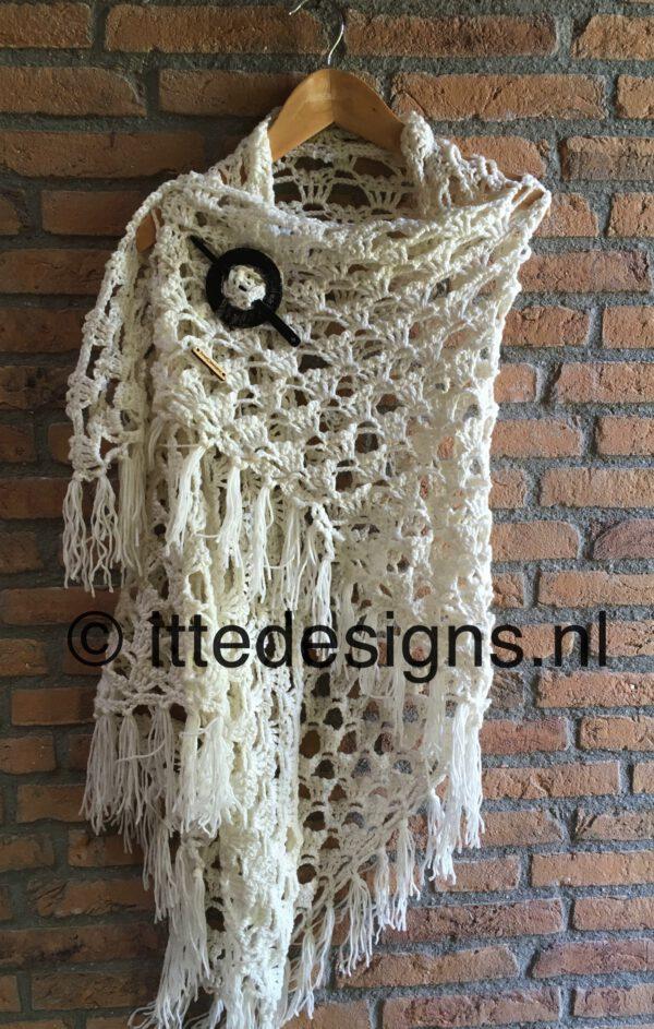 Omslagdoek White Rose | ItteDesigns.nl
