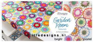 Garden Room tablecloth ItteDesigns.nl haakpakket kleurkeuze
