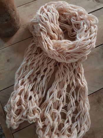 grof gebreide sjaal extra lange sjaal 100% wol