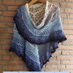 shawl Omslagdoeken whirl ocean