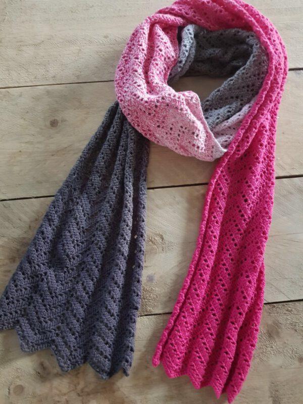 Lange sjaal Whirl Pink Ittedesigns