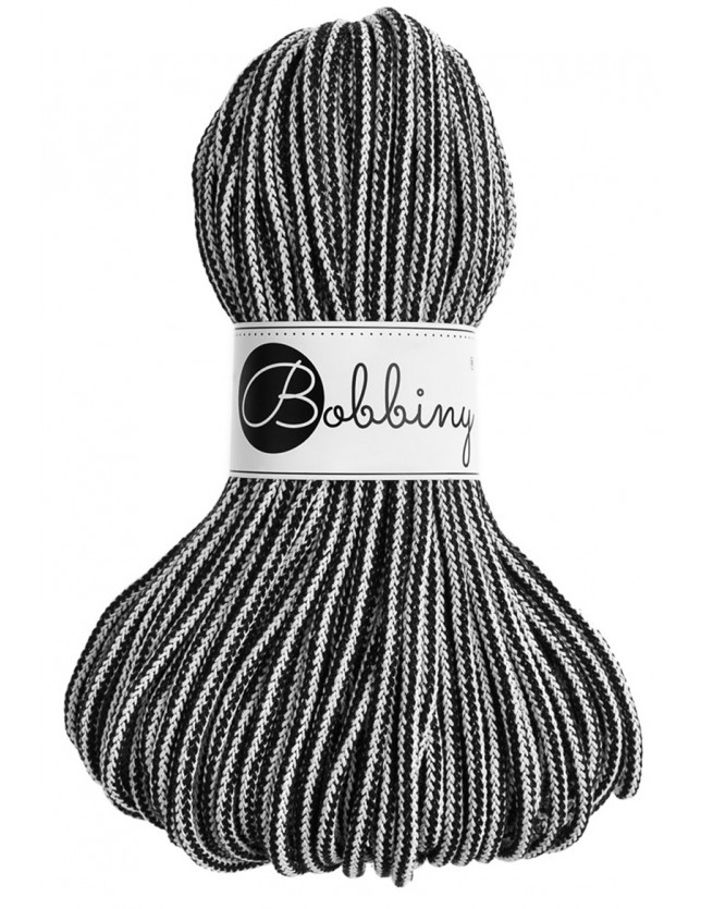 Bobbiny cord black-white