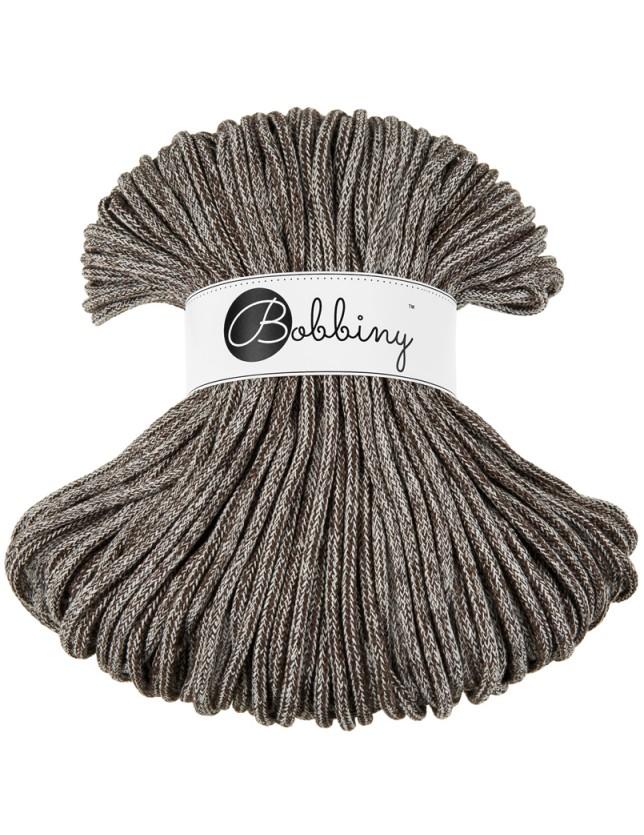 Bobbiny cord brown-melange