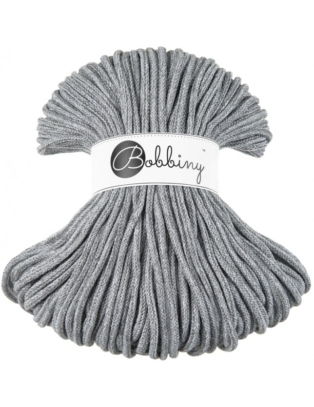Bobbiny cord grey-melange
