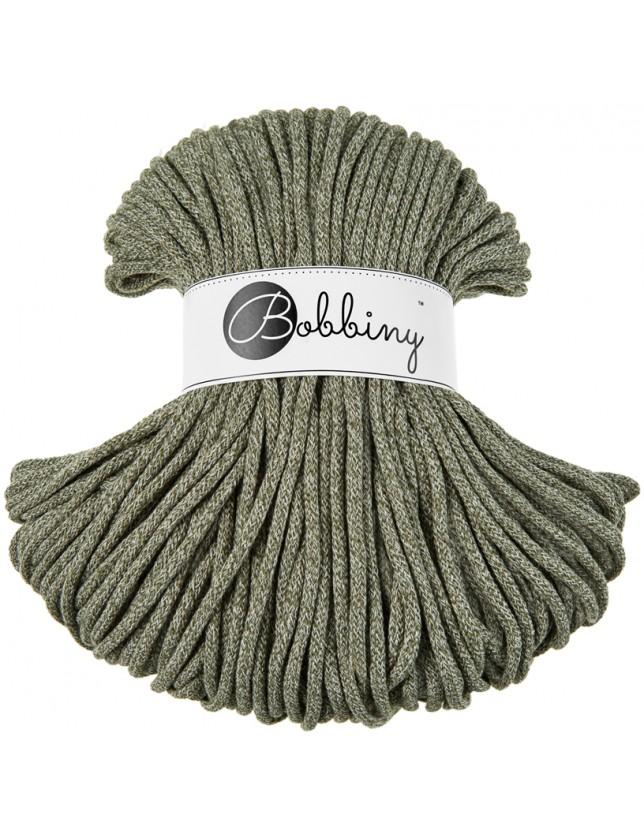 Bobbiny cord olive-green-melange