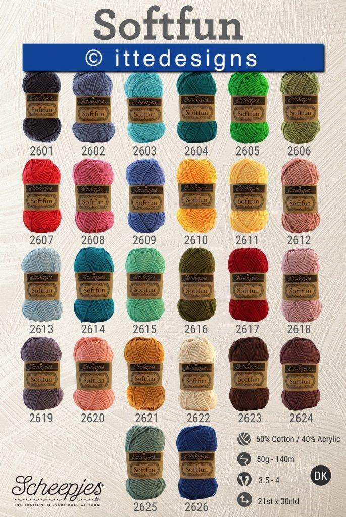 overzicht softfun kleuren ItteDesigns