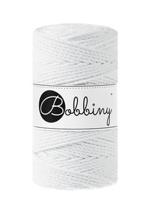 Bobbiny macrame 3mm Triple Twist ItteDesigns White