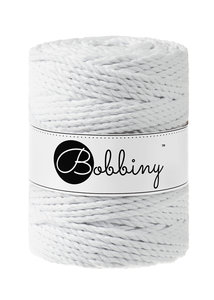 Bobbiny macrame 5mm Triple Twist ItteDesigns White