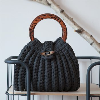 Hoooked firenze tas anthracite ittedesigns