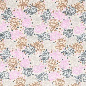 Tissu de Marie roos ItteDesigns stoffen
